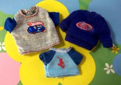 Kelly Chelsea Tommy Ryan BJD Polymer Doll Clothes *3 Used T Shirts or Tops*