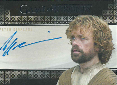 Rittenhouse Game Of Thrones Valyrian Steel Auto Peter Dinklage Tyrion Lannister