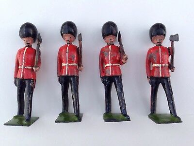 Britain's 4 X Scot's Guards Pioneers. Probably from the 1930s.