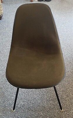 Vintage Herman Miller Eames Side Chair Shell Girard Fabric Covered Mid Century