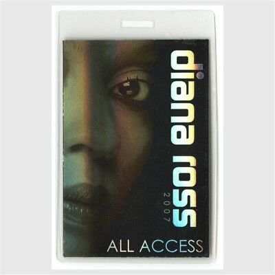 Diana Ross authentic 2007 concert Laminated Backstage Pass I Love You Tour AA