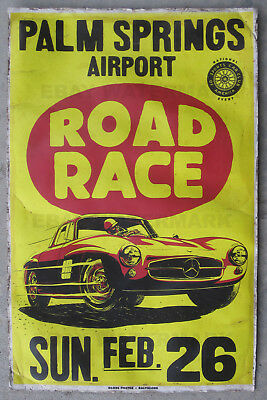 1950's Mercedes 300 SL Gullwing Race Vintage Advertising Poster 11 x 17