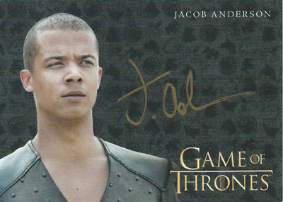 Game Of Thrones Valyrian Steel Gold Auto Jacob Anderson As Grey Worm
