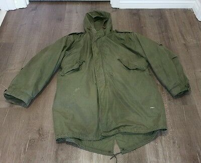 Us Army M1951 Fishtail Parka. Rare Alpaca Wool Liner M-51 Mod Scooter Jacket