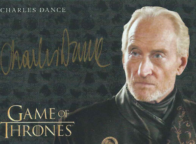 Game Of Thrones Valyrian Steel Gold Auto Charles Dance As Tywin Lannister