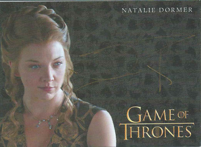 Game Of Thrones Valyrian Steel Gold Auto Natalie Dormer Margaery Tyrell
