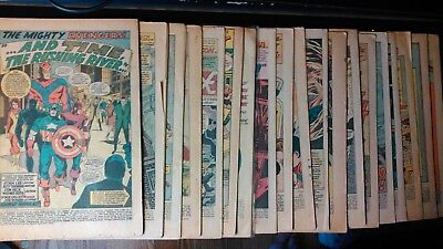 20 Coverless Comics From 1947 To 1977. See List Below For Titles,issues & Year