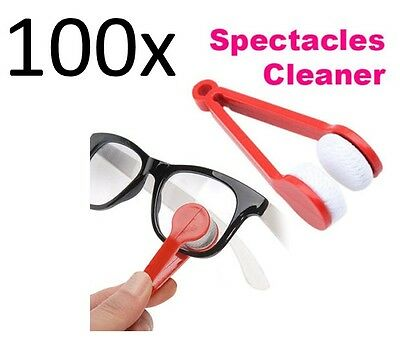 Weyli Microfiber Cleaner for Eyeglass Sun glass Spectacle, with handle, 100-Pack