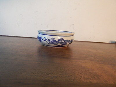Chinese White And Painted Blue Dragon Artwork Porcelain Bowl Nice Intntl Sale