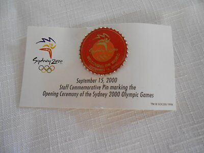 Sydney 2000 Olympic Staff Commemorative Pins