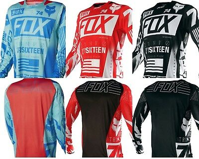 Motocross Jersey FOX Extreme Sports 2 Color Off Road Clothing Quick Dry Function