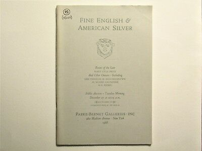 Fine English & American Silver, Estate of the Late Mary Lyle Price & others