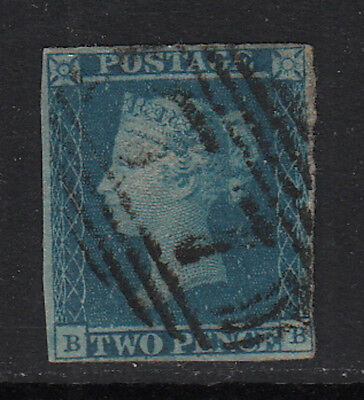 Great Britain 1840 Imperforate #1  Used  Red Cancel  CV $320.00