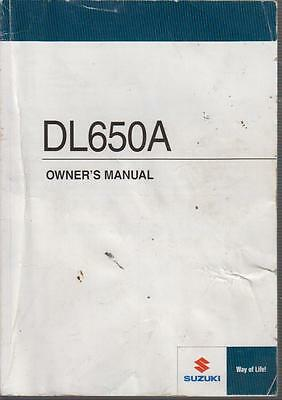Suzuki Dl650A Original 2011 Owners Instruction Manual