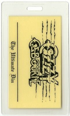 Ozzy Osbourne authentic 1986 concert Laminated Backstage Pass Ultimate Sin Tour