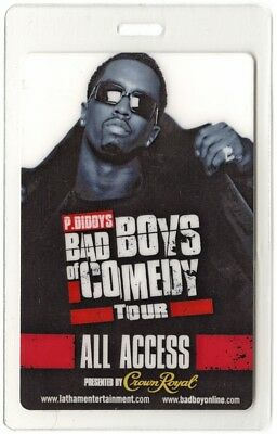 Puff Daddy 2005 Laminated Backstage Pass Bad Boys of Comedy Tour P Diddy