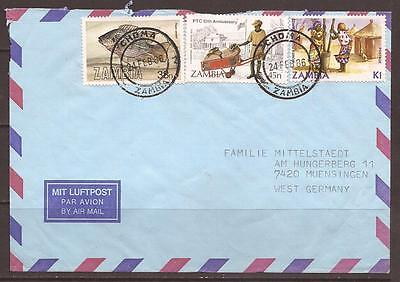 Africa / Zambia. Air Mail Cover. Choma To Germany.