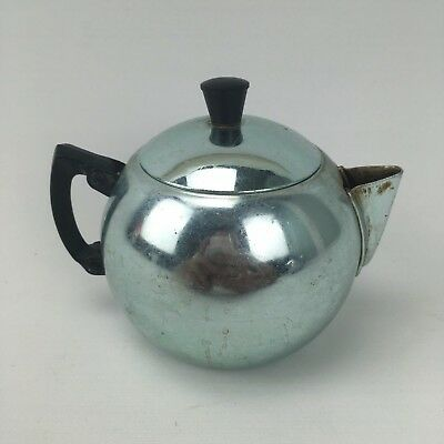 VINTAGE, RETRO Blue ANODISED TEAPOT BY TOWERBRITE - Shabby Chic Cute Tiny