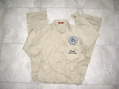 Lost TV Show DHARMA INITIATIVE Costume Uniform Coverall Jump Suit USED Sz 42