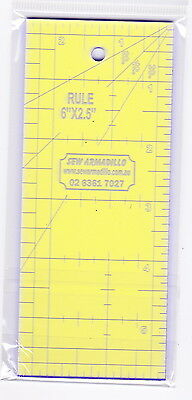 """6"""" x 2.5"""" Ruler -for patchwork & crafting - use with Rotary Cutter"""