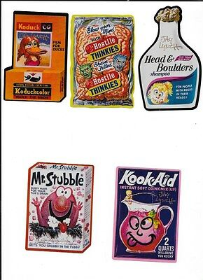 15 Sticker Wacky Packages Set 2005 Signed By Jay Lynch In Gold