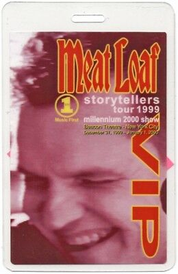 Meat Loaf Laminated Backstage Pass Storytellers Millennium Show Beacon Theatre