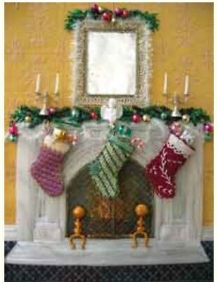 Sundance CHRISTMAS MANTEL HP Needlepoint Canvas Stitch Guide Barbara Elmore