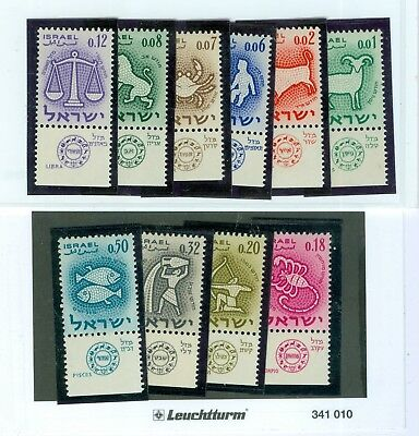 Israel Stamps: 10 Stamps Mint-NH with tab..Est:$35
