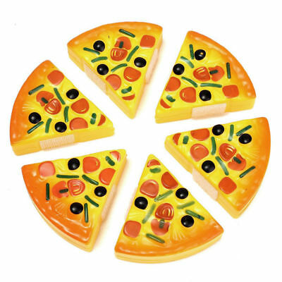 6Pcs Set Kids Baby Pizza Party Fast Food Cooking Cutting Pretend Play Toy Gift