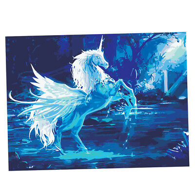 Unframed Paint by Number Kits for Adults Kids 16x20'' Linen Canvas -Unicorn