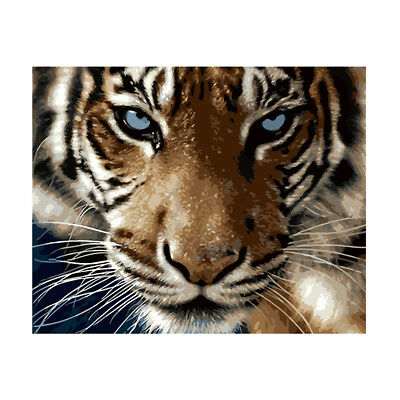 Unframed ART Paint by Number Kits for Adult&Kids 16x20'' Linen Canvas #Tiger