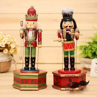 Walnut Soldiers Christmas Gifts Wooden Nutcracker Xmas Drummer Home Decor 12.7""
