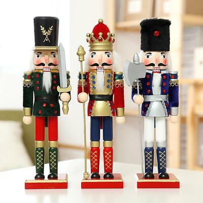 Handmade Christmas Nutcracker Walnut Soldiers Wooden Xmas Decoration Ornament
