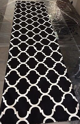 Hand Made Black And White Table Runners