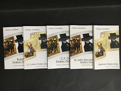Race Book Lot Of 5 Classic Caulfield V.a.t.c Meetings From 2005