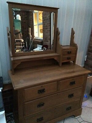 Victorian / Edwardian Dressing table /drawers Old Pine