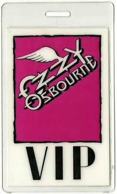 Ozzy Osbourne authentic 1992 concert Laminated Backstage Pass No More Tears Tour