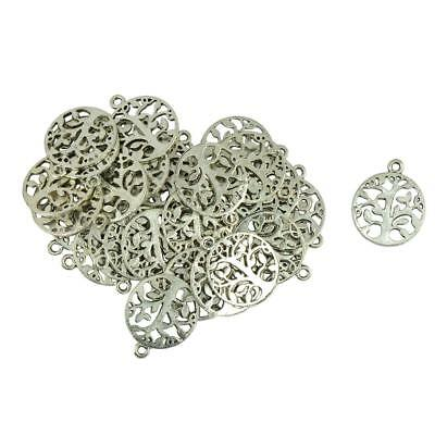 30pcs Antique Silver Alloy Tree of life Charm Pendant For Jewelry Finding