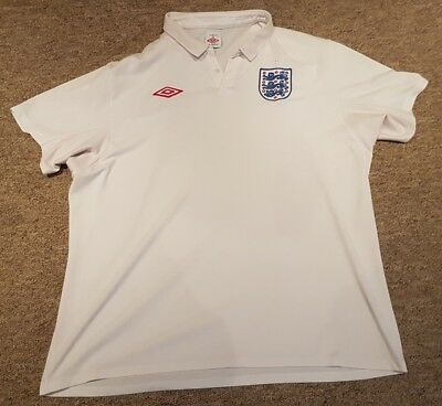 England white home football shirt size XL Umbro
