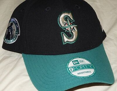 brand new e05bd 3d062 Seattle Mariners Ken Griffey Jr Number Retirement New Era 9FORTY Hat  ADJUSTABLE