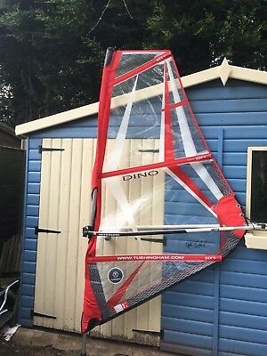 2m Tushingham Dino Childrens Junior Windsurf Sail used once ,Boom, mast Rig