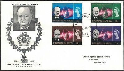 1966, Pitcairn Islands, Winston Churchill Commemoration, First Day Cover.