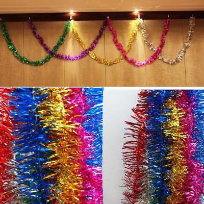 Colorful Thick Christmas Tinsel 2M Garland Christmas Tree Decoration Party Decor