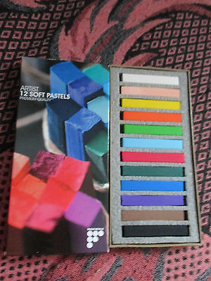 Francheville Artist Soft Pastels Set of 12 Blendable Mixable Pastels Crayons