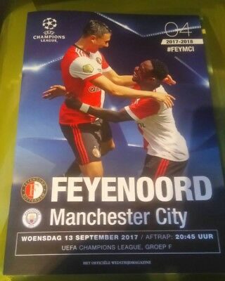 Feyenoord v Manchester City FC UEFA CL R32 13/09/2017 - Official programme