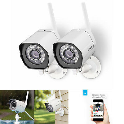 2Pcs Home Wireless Security Video Camera System Night Vision Motion Alert HD App
