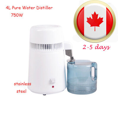【CA Warehouse】 4L Water Distiller Pure Purifier Filter All Stainless Steel Home