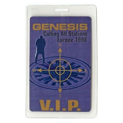 Genesis authentic 1998 concert tour Laminated Backstage Pass Phil Collins VIP