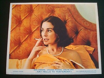 JEAN SIMMONS FILM LOBBY CARDS 10 x 8 - SAY HELLO TO YESTERDAY - SET of 8 COLOUR
