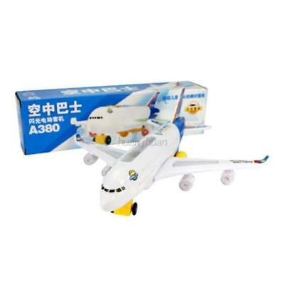 AU Electric Airplane Flashing Lights Sounds Kids Child Aeroplane Toy Xmas Gift